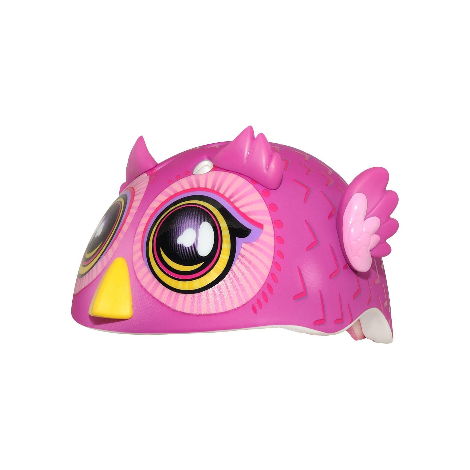 Infant Girl C Preme Raskullz Big Eyed Owl Pink Bike Helmet