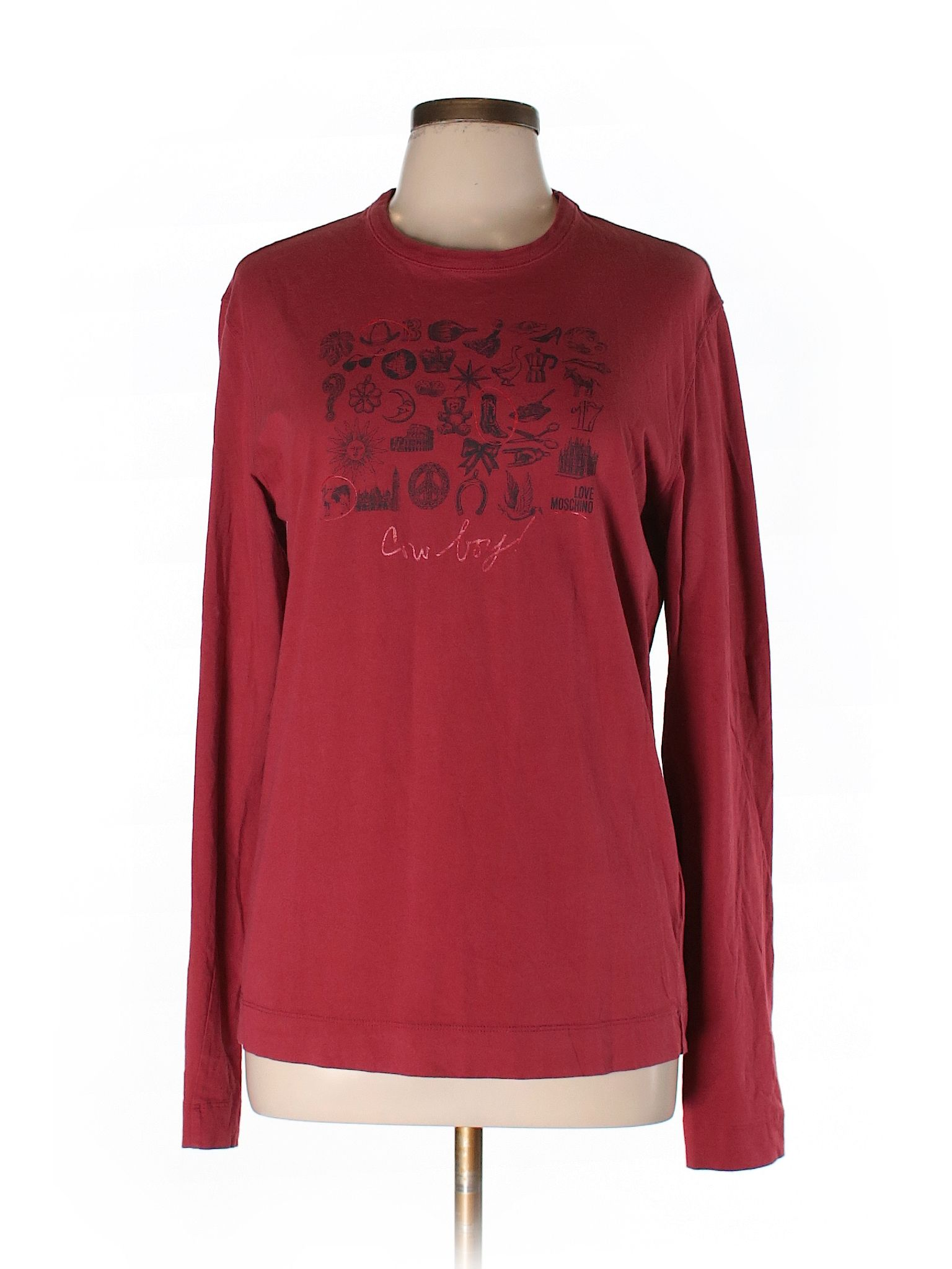 104a696306f6a Long Sleeve T-Shirt | Products | Moschino, Long sleeve, T shirt