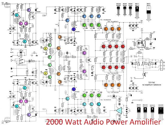 Power Amplifier 2000 Watt Circuit Diagrams Wiring Diagram Libraries
