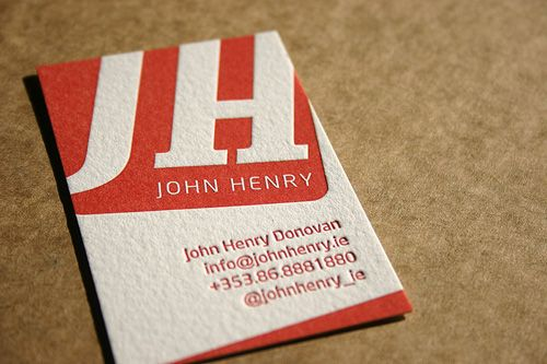 Downfault i dont know what john henry does but he sure has a john henry donovans colorful letterpress business card colourmoves