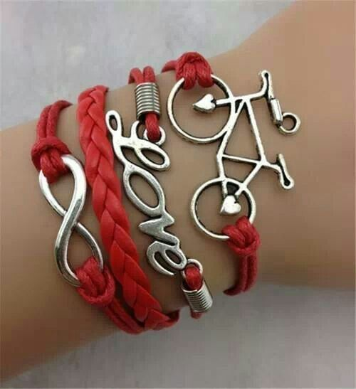 "Beautiful ""Bike Love"" bracelet!"