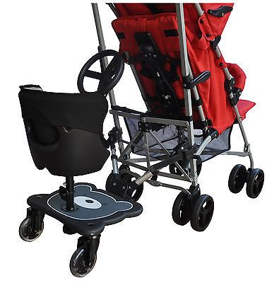 62263 baby kid stuff englacha 2 in 1 cozy b rider stroller board
