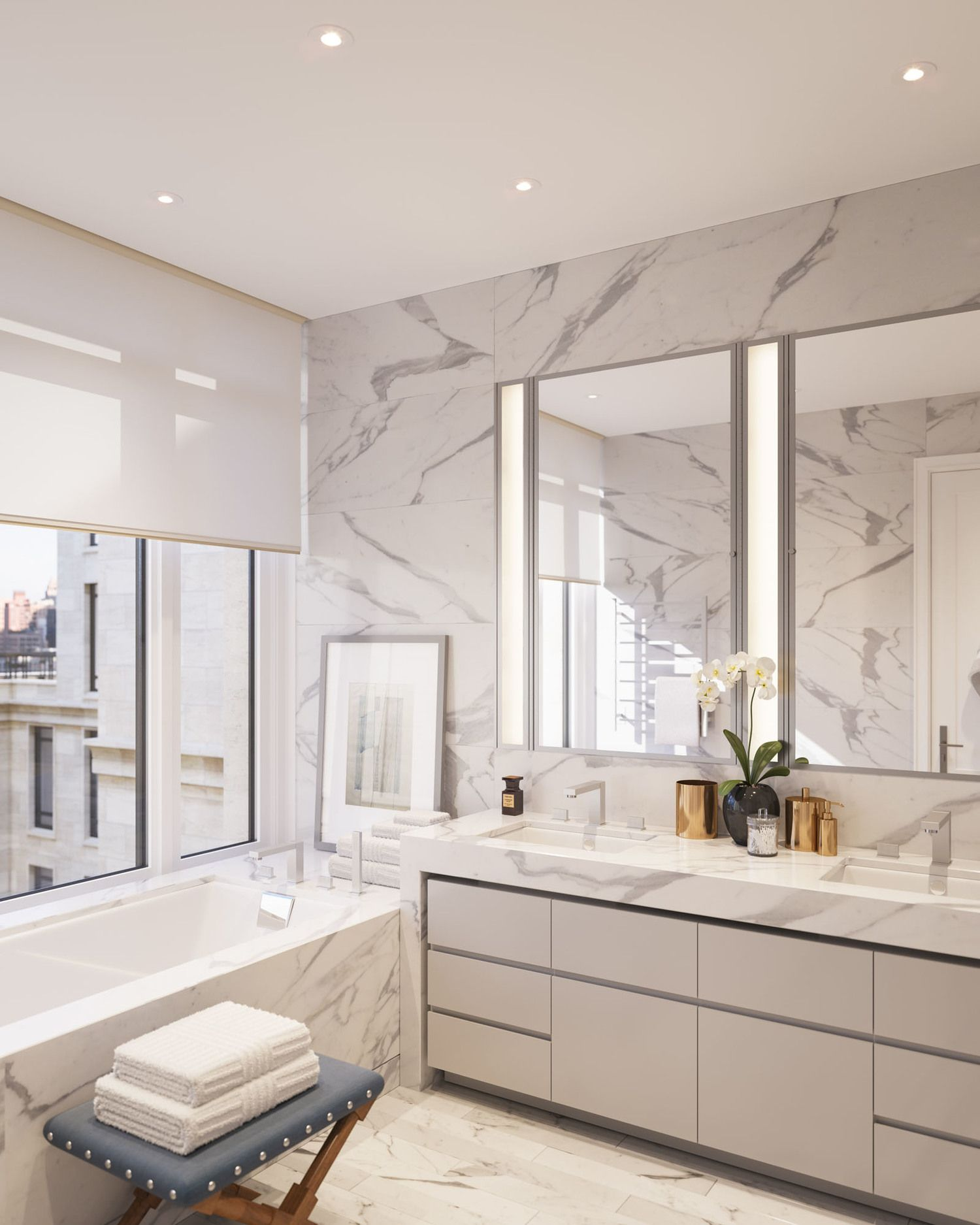 Carrera Marble Bathrooms Pictures: Modern Marble Bathroom