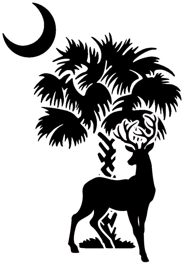 South Carolina Tree with Deer | Palmetto tree, Palmetto ...