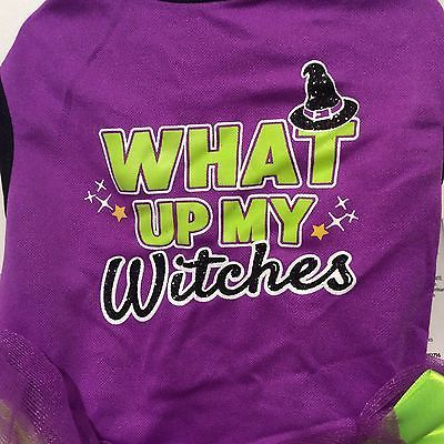 Simply Dog Halloween Costume What Up My Witches Purple Ruffle Dress