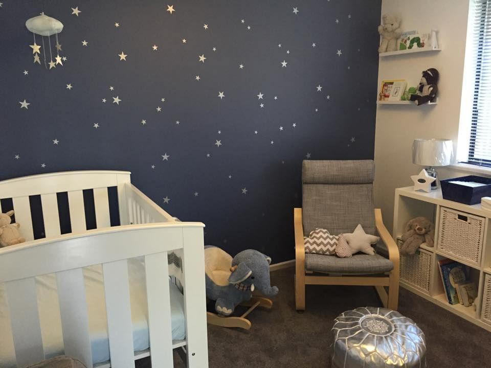 Starry Nursery For A Much Awaited Baby Boy Boy Room Themes Baby Boy Room Nursery Baby Boy Room Themes