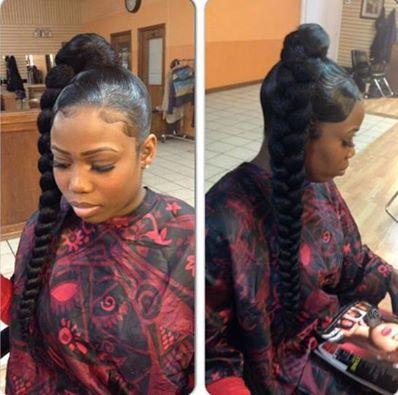 A Lil Ghetto But Very Cute Dookie Braid Hair Styles Hair Ponytail Hairstyles