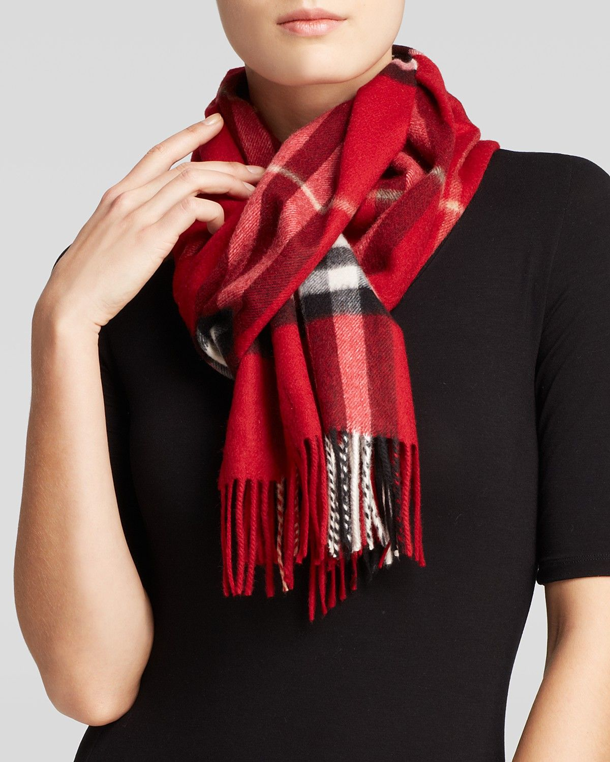 Burberry Giant Check Cashmere Scarf   Bloomingdale's ...