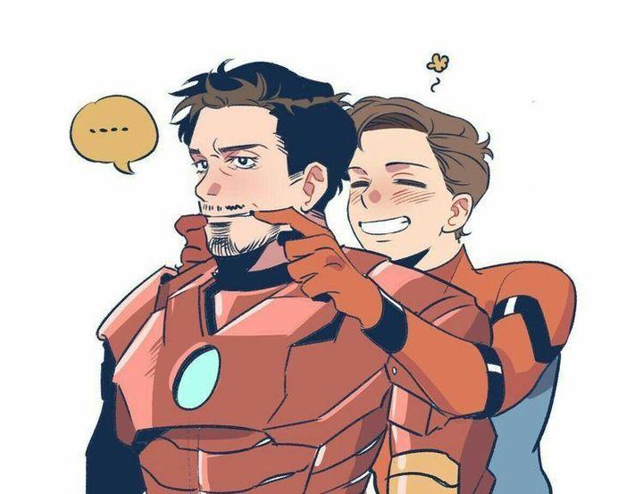 All Couple Avengers - Papa Tony!!💛💛💛   super family
