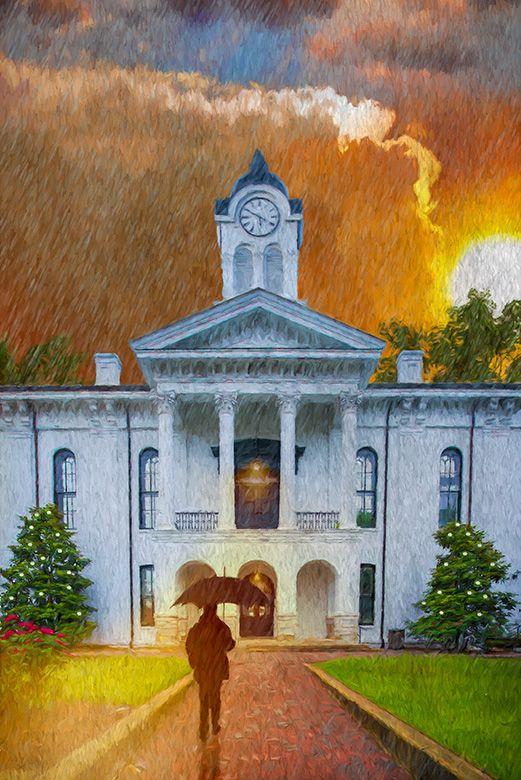 Rain on the Courthouse