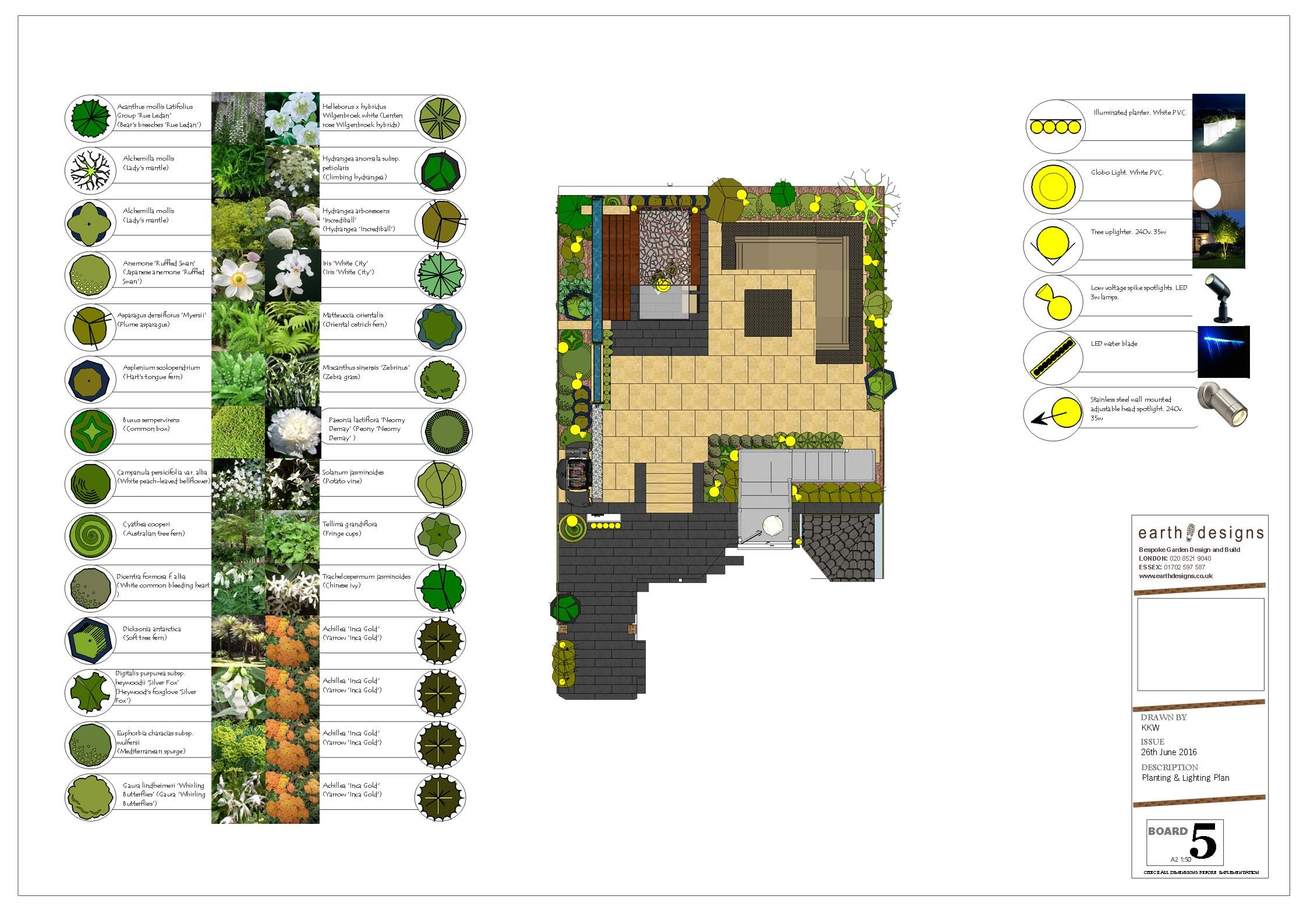 planting and Lighting plan for Lewisham Garden Design #gardendesignsouthlondon #southlondon #gardendesignerlondon