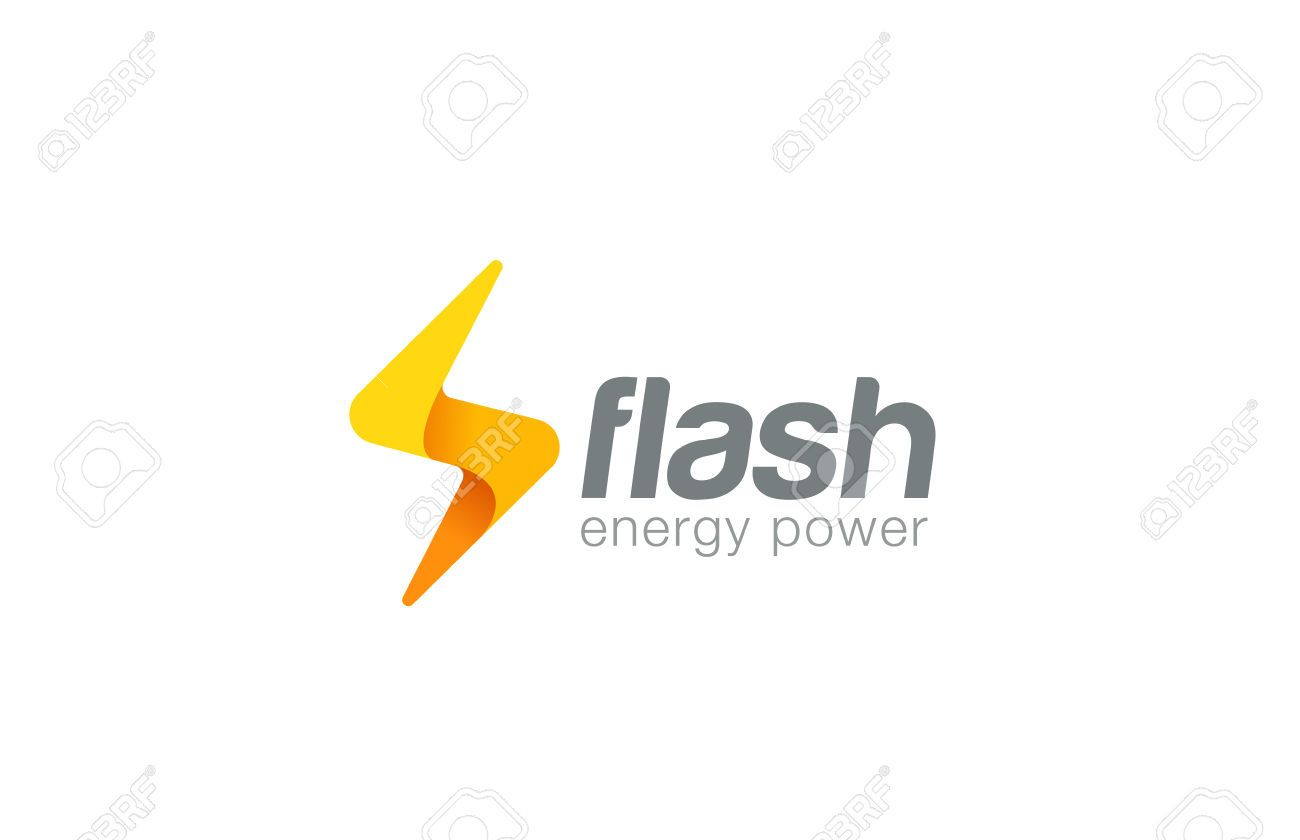 lightning bolt icon: Lighting bolt Flash Logo design vector ... for Vector Lighting Bolt  104xkb