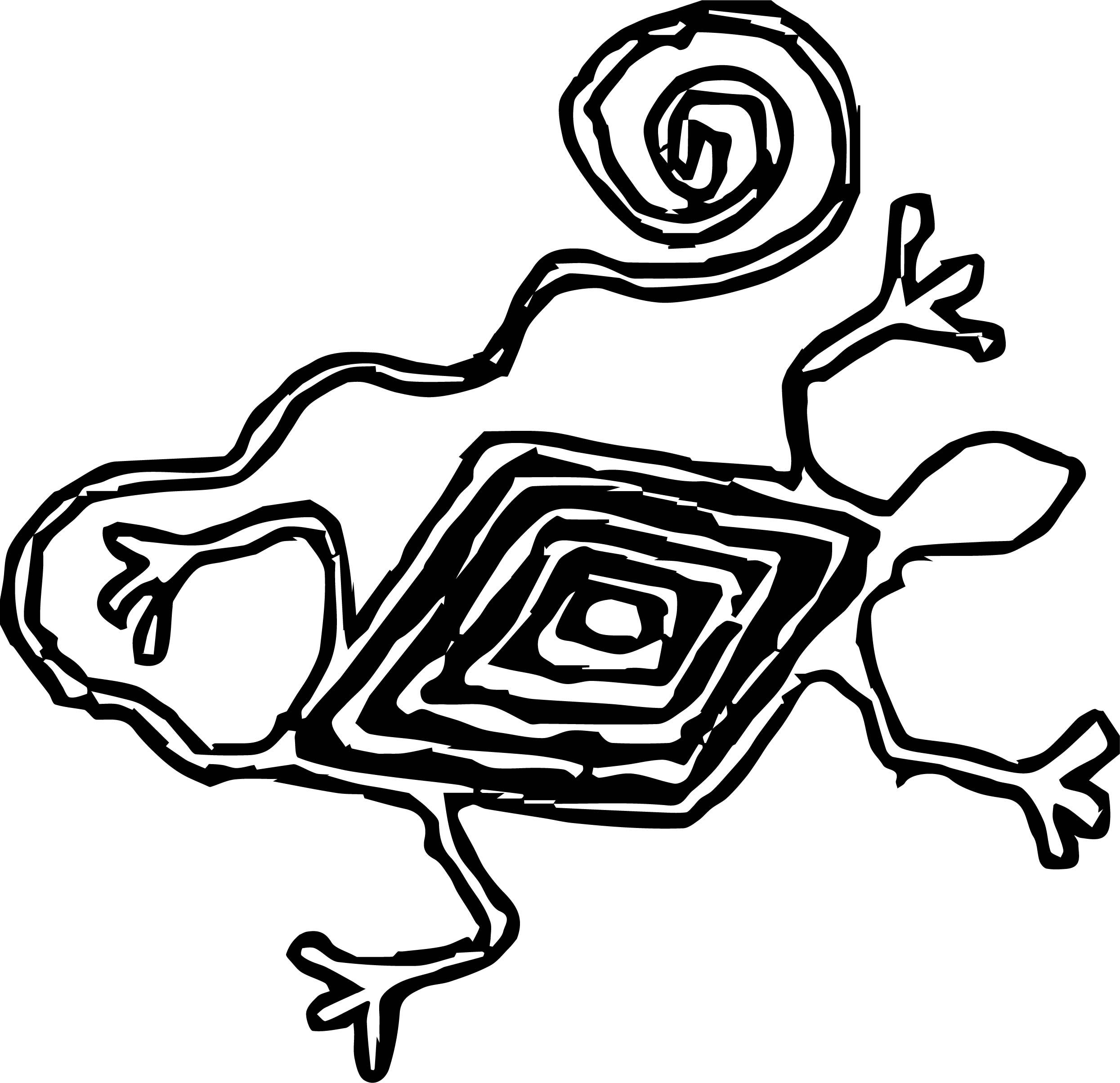 Nice Aztec Snake Shape Coloring Page