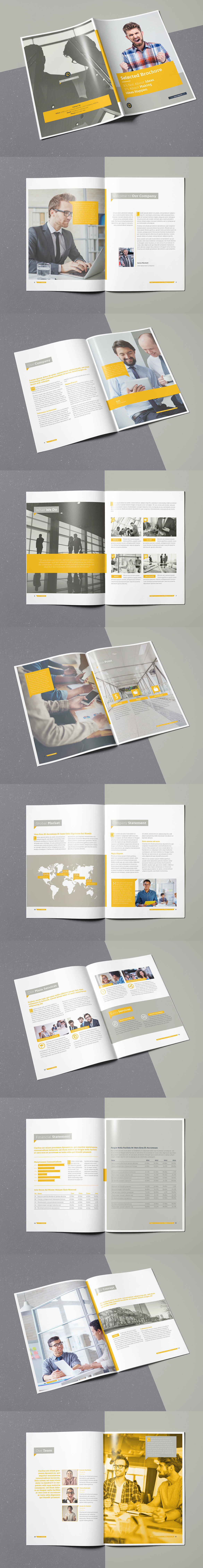 Selected Brochure 20 Pages A4 Template InDesign INDD | Brochure ...