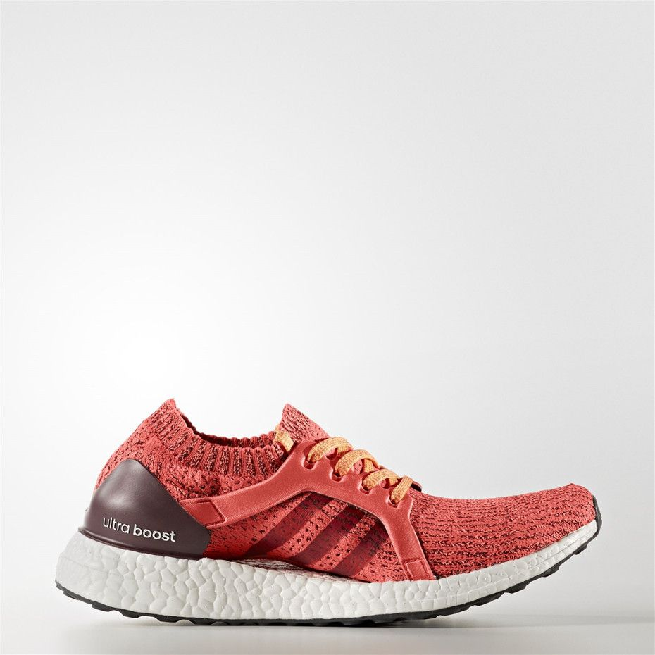 92515d8f43e24 Adidas UltraBOOST X Clima Shoes (Easy Coral   Maroon   Glow Orange ...