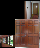 Doors made to your specifications.  Any style, Raised panel, Flat panel, Curves, Egg & Dart, Mouldings, window trim, color matched, sheen matched.  Fast turnaround, installation, full service*Glaze Finish