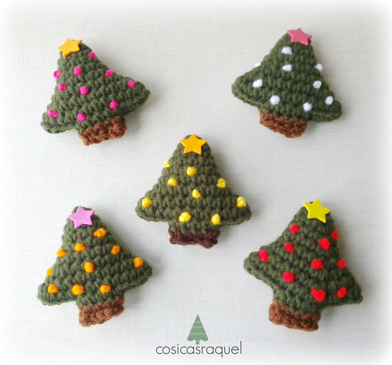 Imán Árbol de Navidad a Crochet | Imanes, Crochet patrones y Patrón ...