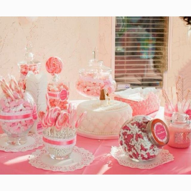 First Holy Communion Pink Candy Buffet Table First Communion Party Communion Party Communion Favors