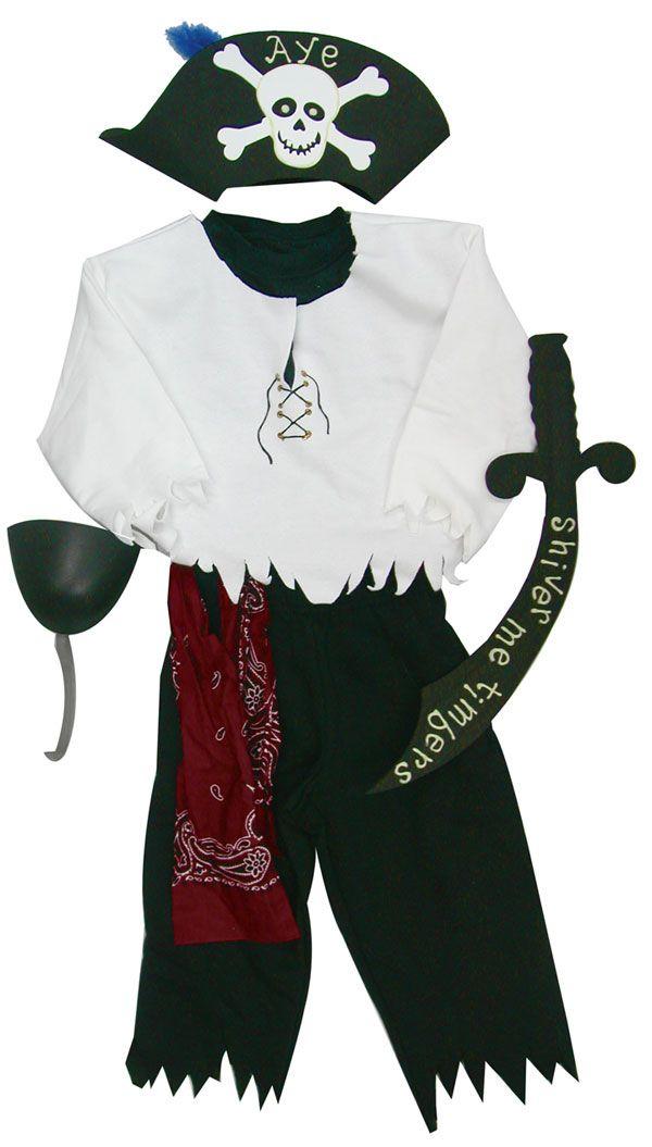 diy pirate costume   Homemade Pirate Costume Ideas For Kids   Für ...