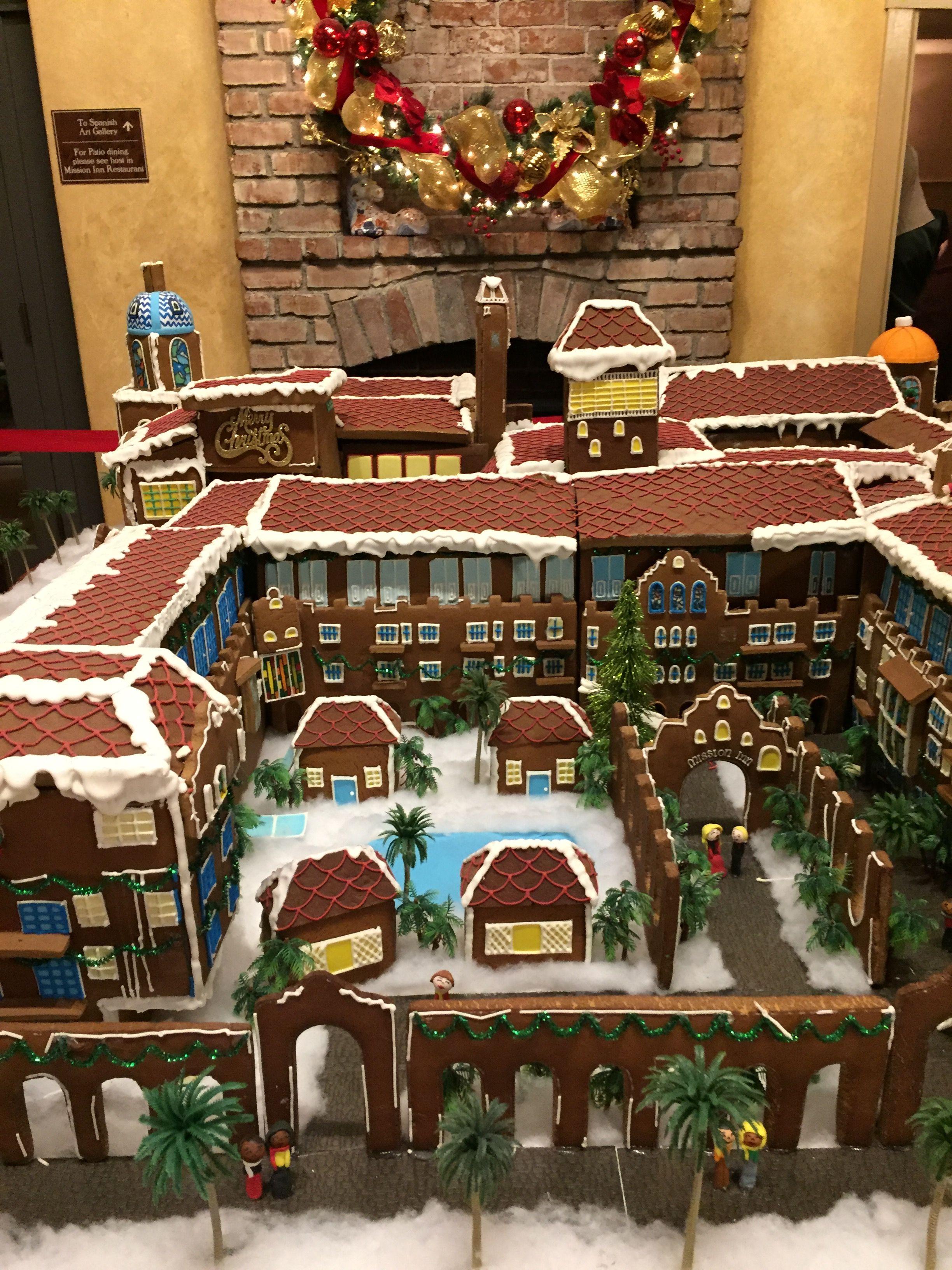 """Gingerbread House Riverside Mission Inn """"Festival of"""