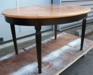 table louis philippe table ronde bois