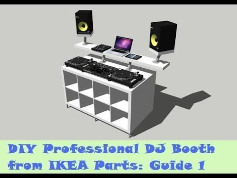 Awesome Guide DIY DJ Booth from IKEA Parts Build YouTube