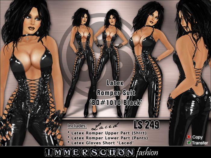 3281d7169 Immerschoen Girl - Latex Romper Suit BD 1010 (Black)