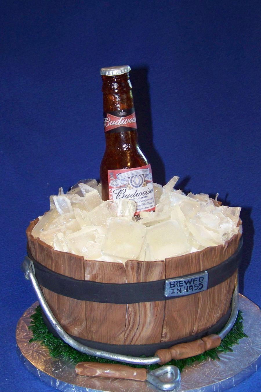 Beer Bottle Cake With Images Beer Bottle Cake Bottle Cake