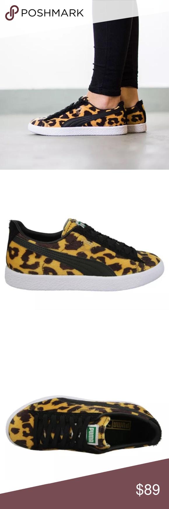 wholesale dealer f86d0 233b2 Puma Clyde Suits Animal Pack Leopard Sneakers Puma Clyde Suits Leopard  Sneakers Unisex Fits Size 9.5