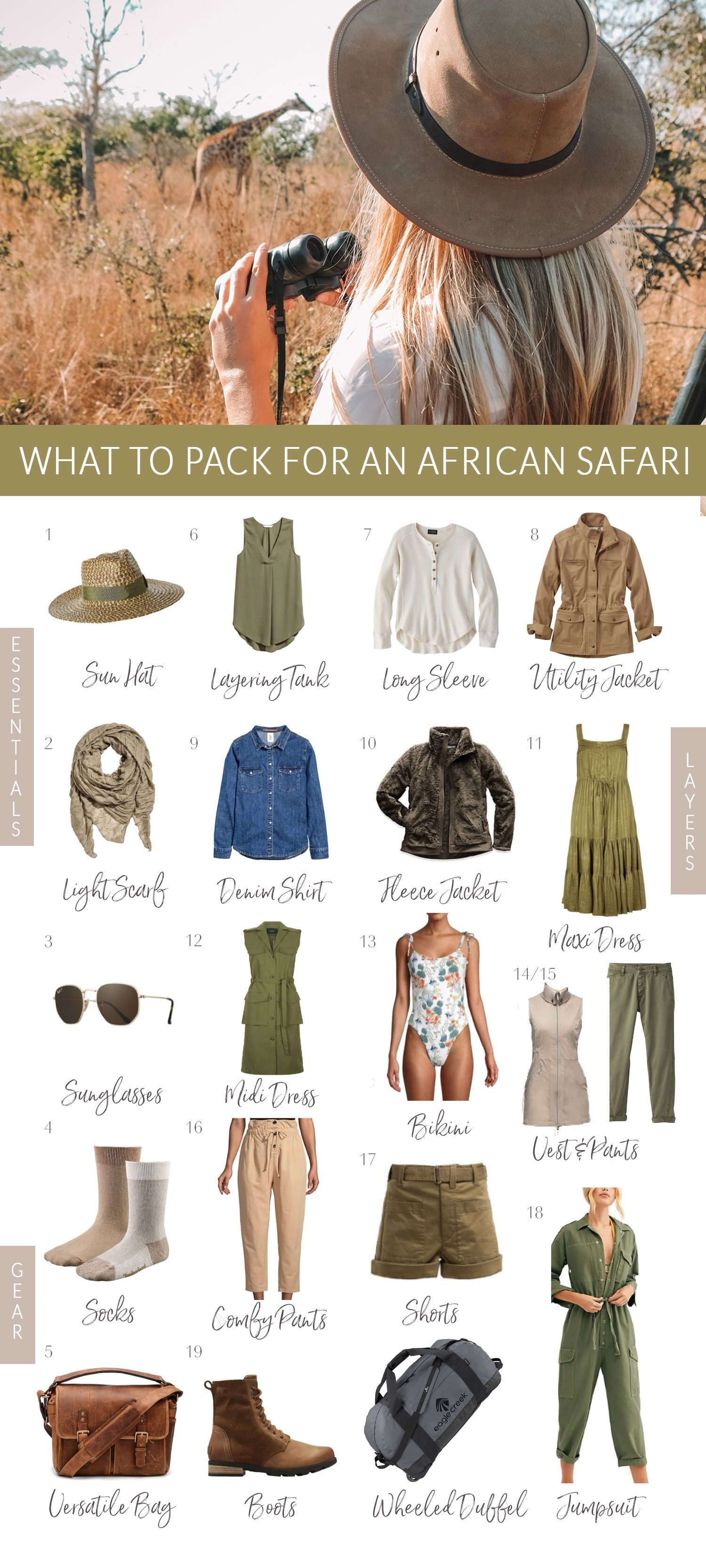 What to Pack for an African Safari • The Blonde Abroad