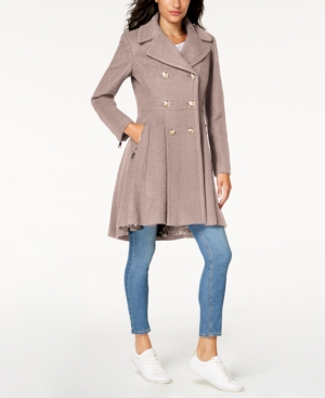 76b71eec4a46e Guess Double-Breasted Skirted Coat - Blue XL