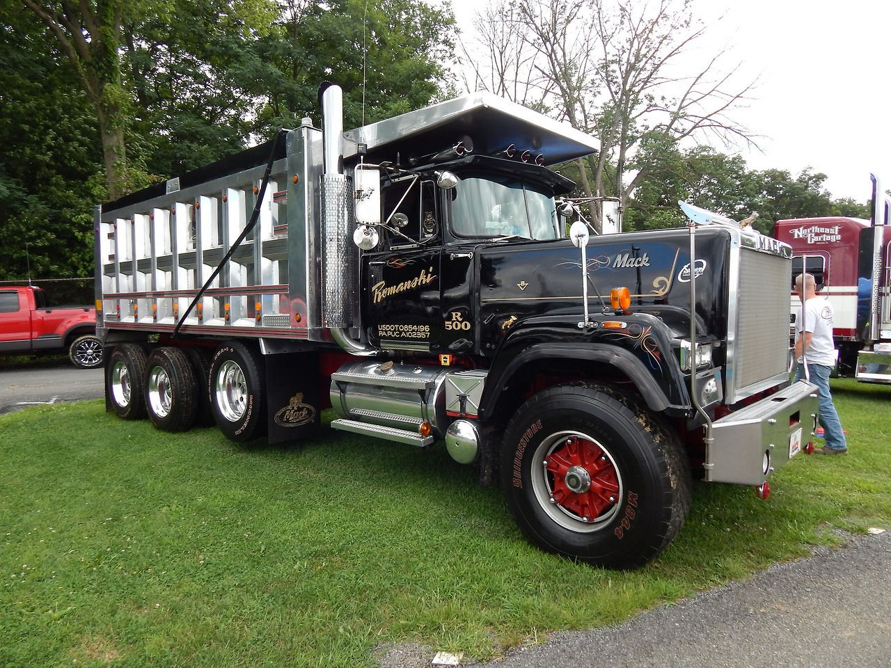 Mack Tri Axle Tractors : Mack superliner custom tri axle dump trucks pinterest