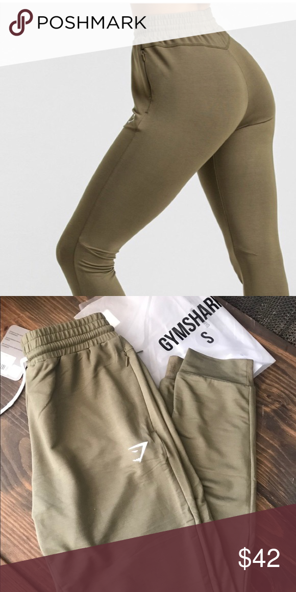 60818cb817c8ad Gymshark Khaki Solace Joggers NWT! Small khaki solace joggers. NWT - Never  worn, but past return period. Gymshark Pants Track Pants & Joggers