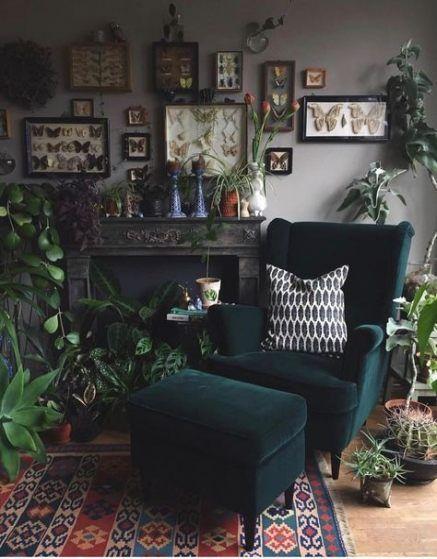 37 Ideen Wohnzimmer Green Boho