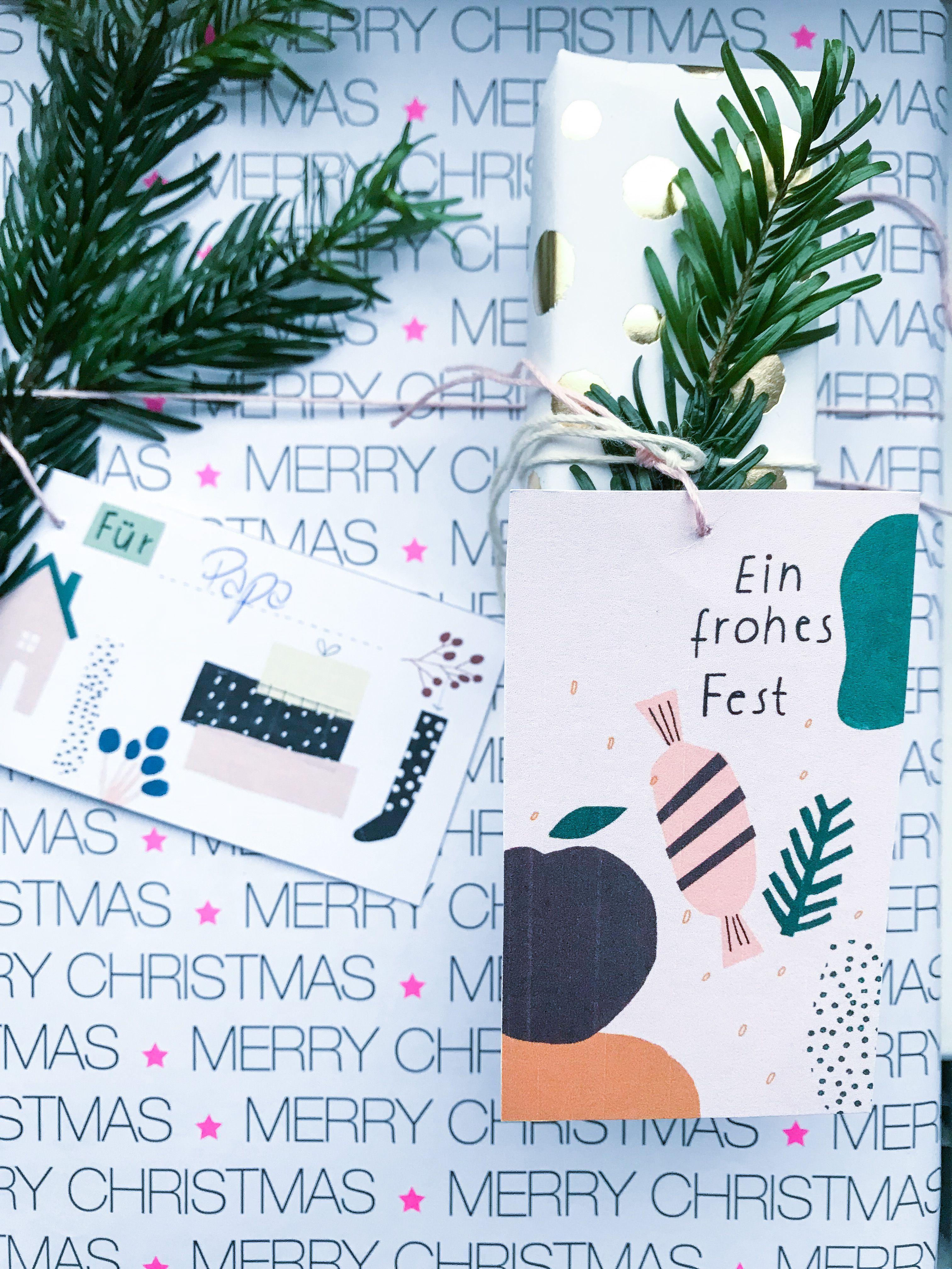 Free Printable Geschenkanhänger zu Weihnachten | Frohe Weihnachten ...