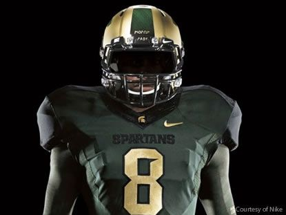 Michigan State Football Jersey Helmet History Michigan State Football Michigan State Michigan