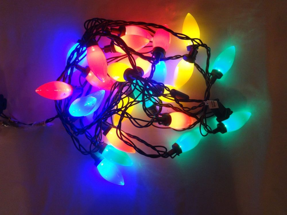 Lot 2 Holiday Party 25 Led C9 Christmas Lights Multi Color 14 Indoor Outdoor Holidaytime Outdoor Holiday Party Led Christmas Lights C9 Christmas Lights