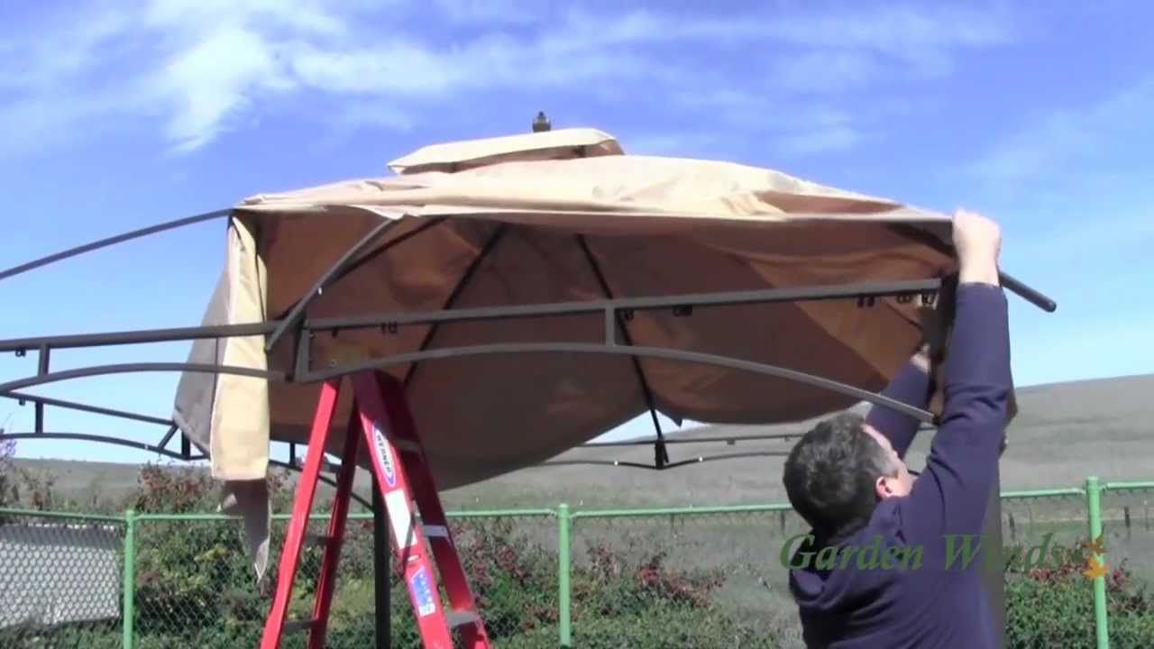 How to install a Loweu0027s Allen Roth 10x12 Gazebo Canopy & How to install a Loweu0027s Allen Roth 10x12 Gazebo Canopy | Gazebos ...