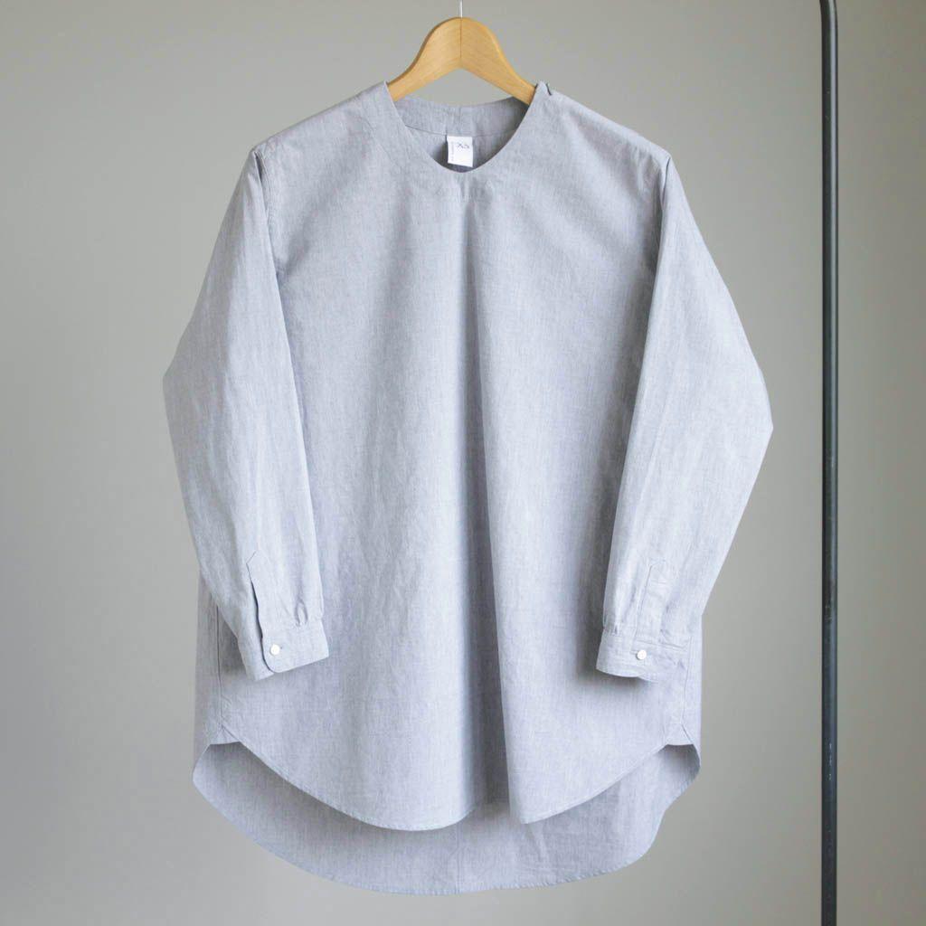 NO CONTROL AIR - NCNPS|ラフコットン高密度タイプライターセミワイドP/Oシャツ #l.grey top