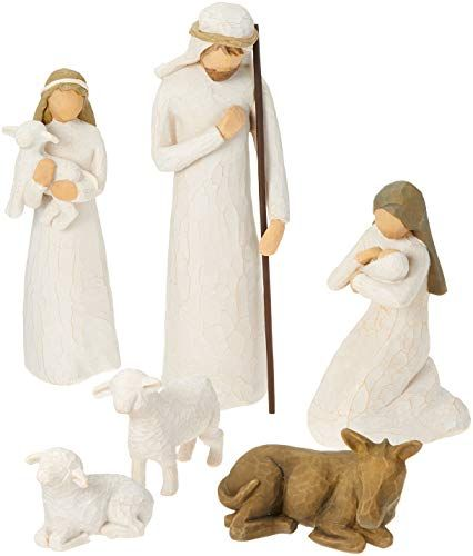 Willow Tree Hand-painted Sculpted Figures, Nativity, 6-pi