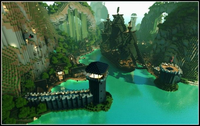 pirate-island-map-link-build-minecraft Minecraft Pinterest