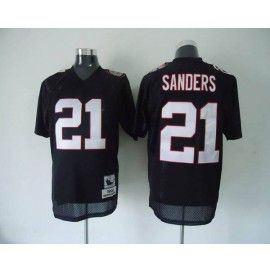 Nike Atlanta Falcons #21 Deion Sanders Black Stitched Throwback NFL