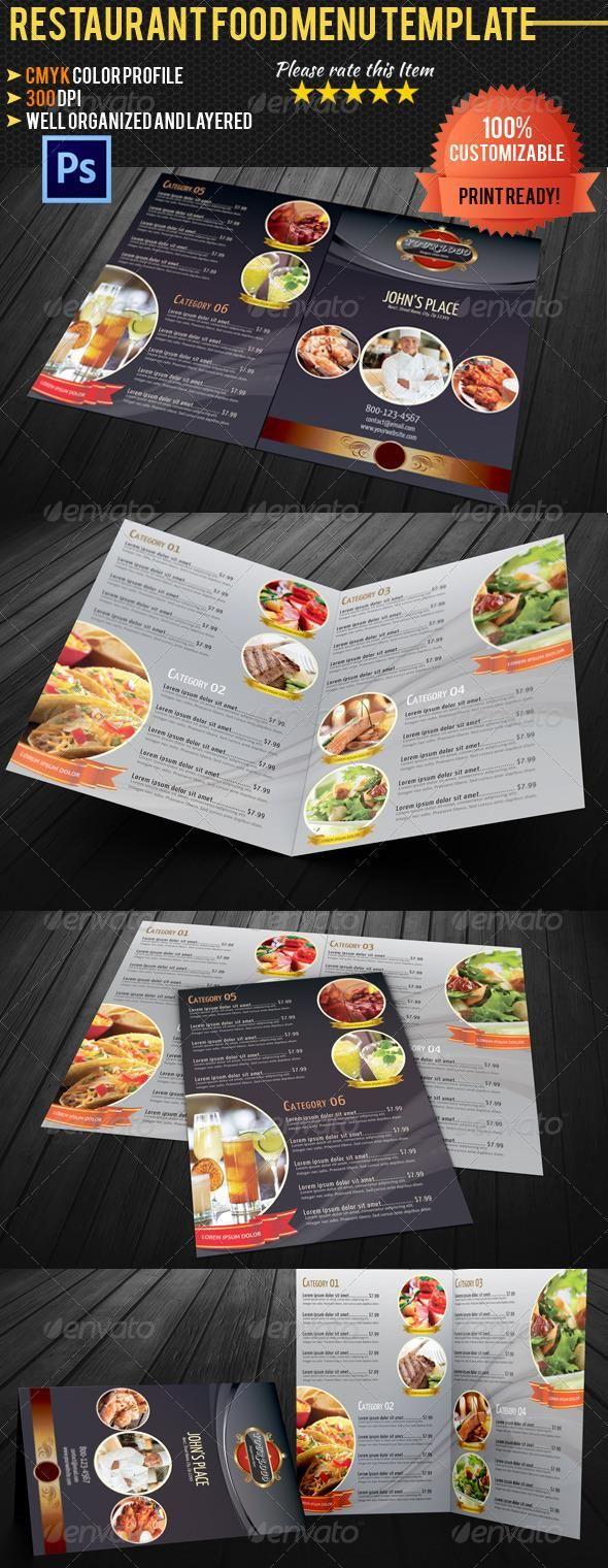 BiFold Restaurant Food Menu Template  Food Menu Template Menu