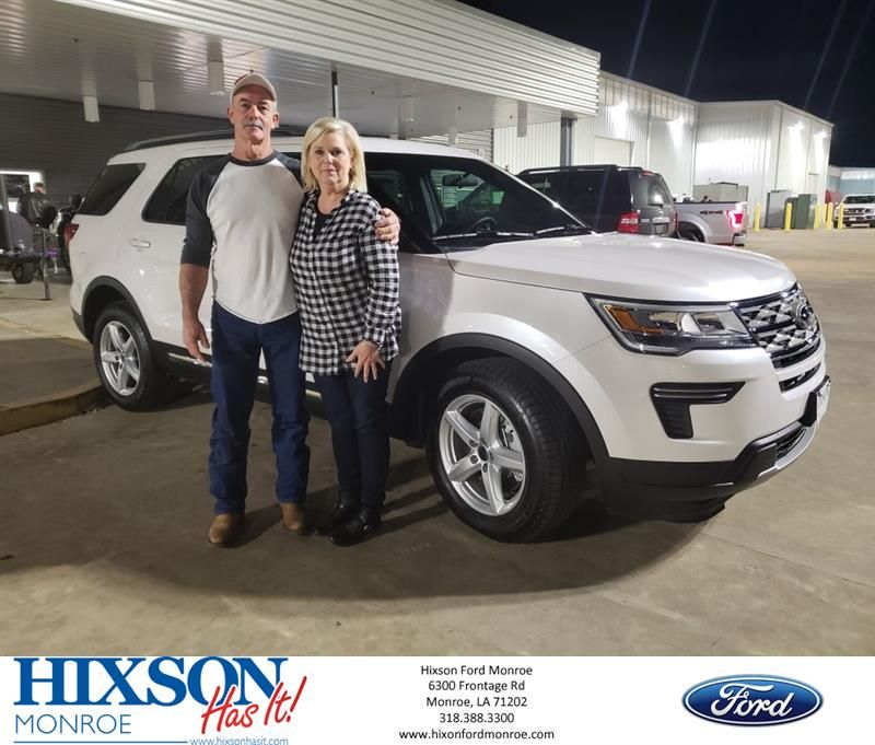 Hixson Ford Monroe >> Congratulations Sharron On Your Ford Explorer From Terri