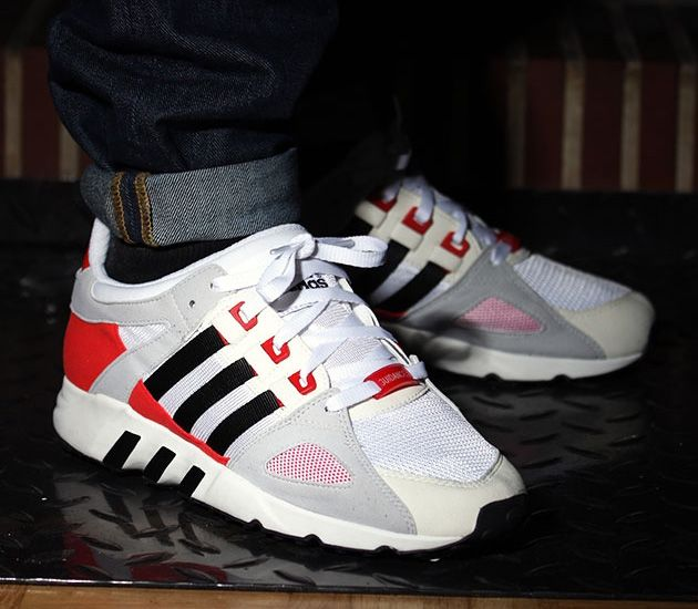 73e25b0cb458 adidas EQT Running Guidance 93 OG - Running White   Black - Red ...