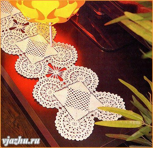 Crochet: Napkin from complex motives