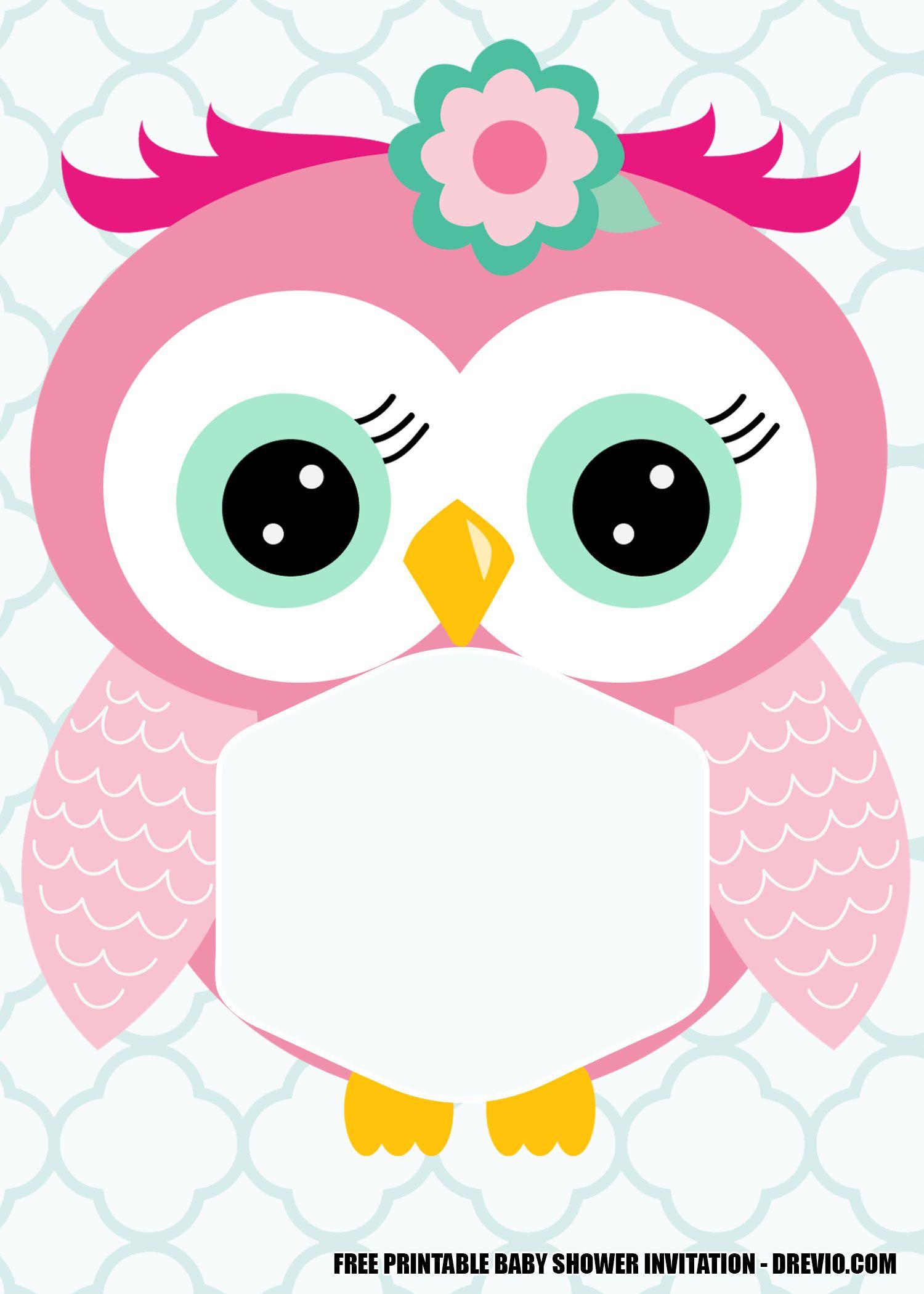 FREE Printable Owl Baby Shower Invitation Templates ...