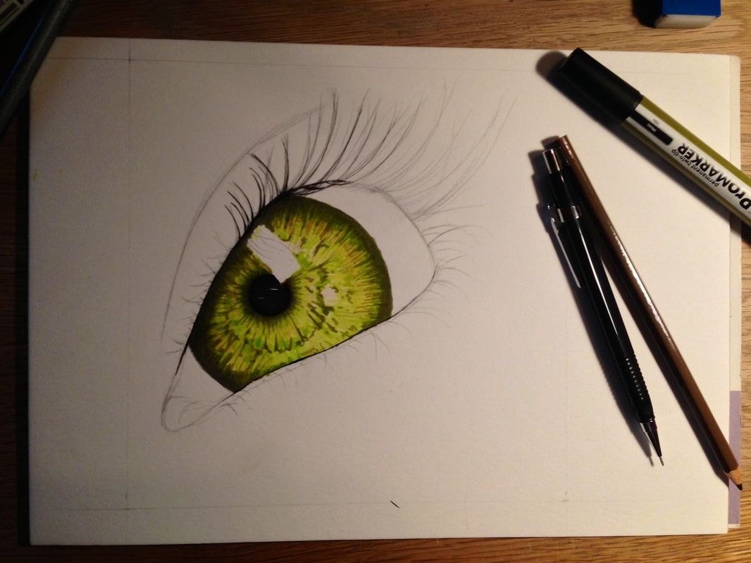#drawing of a #eye with #promarkers