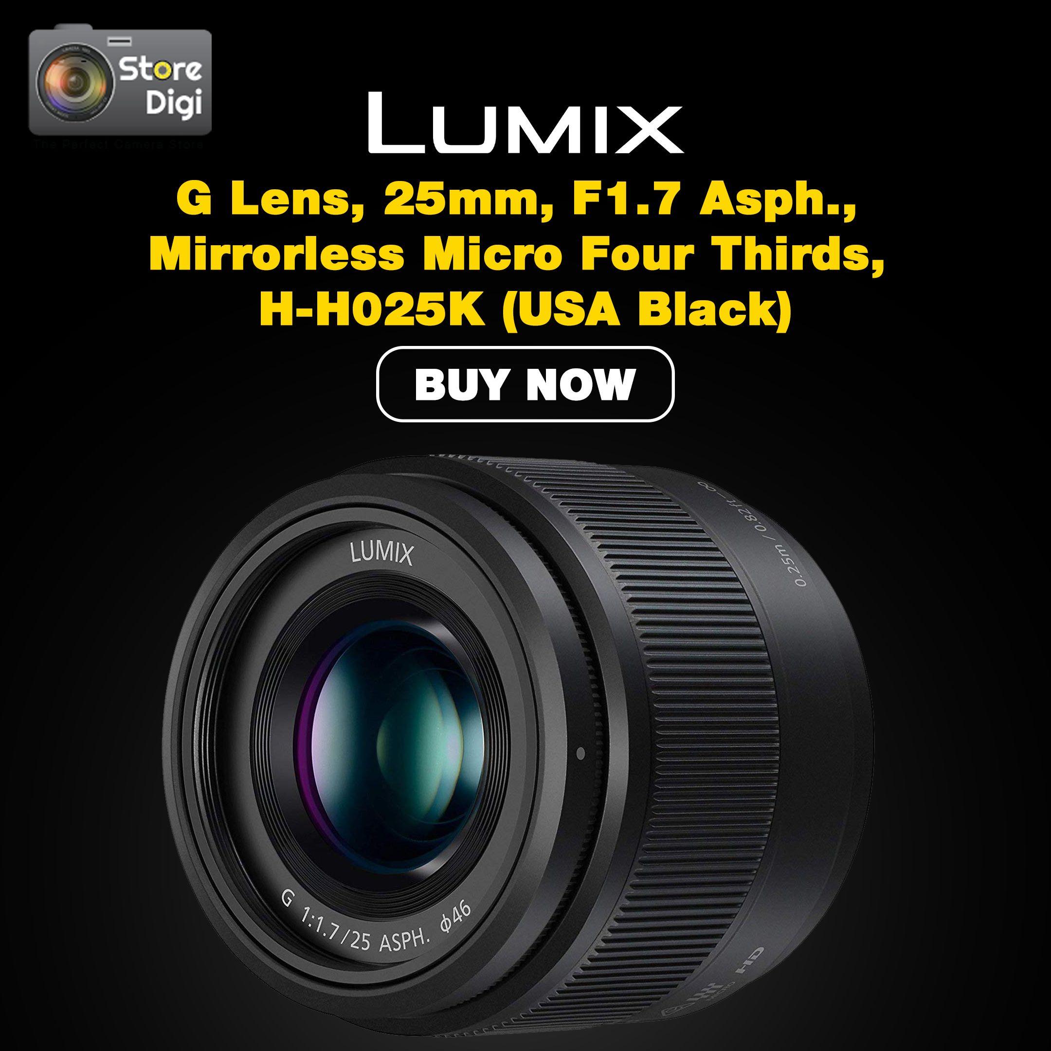 Buy Panasonic Lumix G Lens 25mm F1 7 Asph Mirrorless Micro Four Thirds H H025k Store Digi Panasonic Lumix Point And Shoot Camera Lens