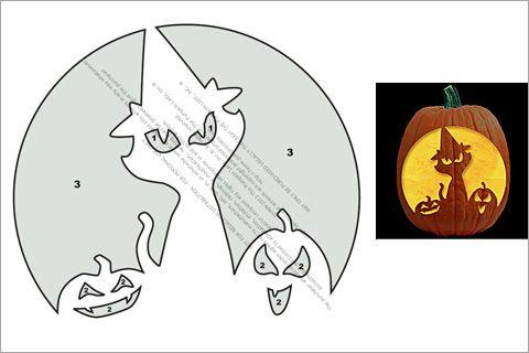 Halloween Pumpkin Template Free Stanpumpkin With Halloween Pumpkin - cat pumpkin template